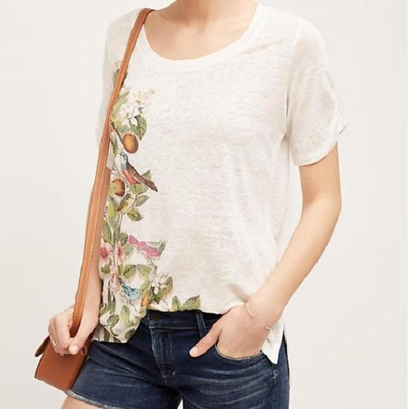 0465a64e4db0 Anthropologie Tops - Meadow Rue Anthropologie Beach Blossom Linen Shirt